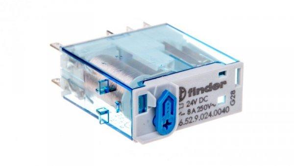 Przekaźnik miniaturowy 2P 8A 24V DC AgNi 46.52.9.024.0040