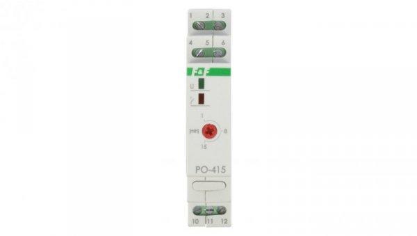 Przekaźnik czasowy 1P 10A 1-15min 230V AC opóźnione odpadanie PO-415 230V