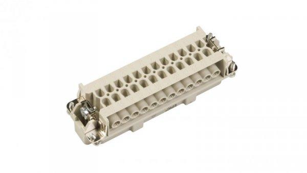 Wkład złącza 24P+PE męski 16A 500V EPIC H-BE 24 SS 10196000