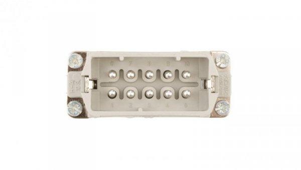 Wkład złącza 10P+PE męski 16A 250V EPIC H-A 10 SS 10440100