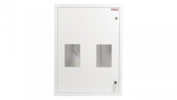 Szafka licznikowa podtynkowa 2-licznikowa 3-fazowe 20 modułów IP30 RW-2L-20 Z/O