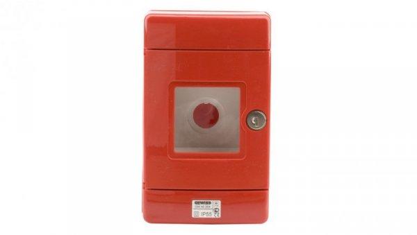 Szafka do wyłącznika p.poż. fi22mm natynkowa czerwona 42 RV GW42204
