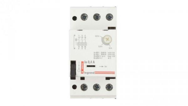 Wyłącznik silnikowy 3P 0,09kW 0,25-0,4A M 250 0,4 606802