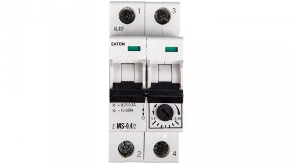 Wyłącznik silnikowy 2P 0,09kW 0,25-0,4A Z-MS-0,40/2 248391