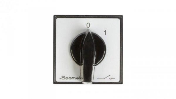 Łącznik krzywkowy 0-1 3P 16A do wbudowania ŁK16R-2.8211P03