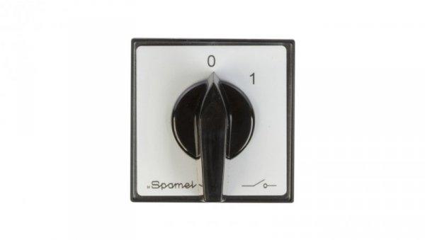 Łącznik krzywkowy 0-1 3P 63A do wbudowania ŁK63-2.8211P03