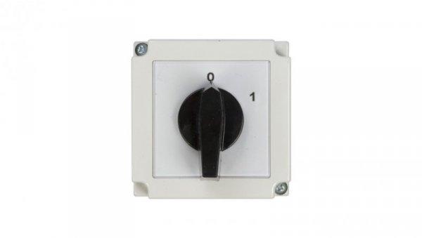 Łącznik krzywkowy 0-1 1P 25A w obudowie 4G25-90-PK 63-840392-031