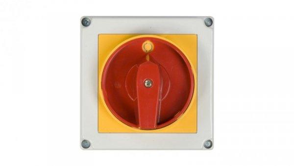 Łącznik krzywkowy awaryjny 0-1 3P 40A w obudowie 4G40-10-PK S6 63-241676-041