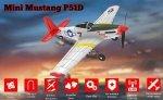 SAMOLOT Mini Mustang P-51D z systemem stabilizacji One Key Aerobatic Idealny dla początkujących RTF