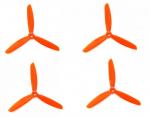 Śmigła DAL TJ5045 - orange - Tri-blade - 5x4,5x3 - 2xCW/2xCCW - DAL-PROP 4 szt