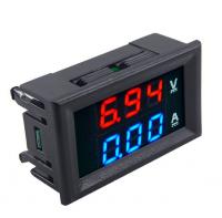 Miernik woltomierz i amperomierz 0-100V - 50A - 0.28 w obudowie