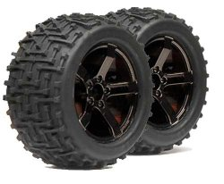 Bullet MT Ammunition Tyres + Wheels Black Chrome 2 koła