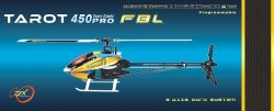 Helikopter RC Tarot 450 PRO V2 FBL BLACK - SILVER FLYBARLESS KIT