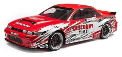 HPI NITRO 3 DRIFT RTR WITH DISCOUNT TIRE/NISSAN S-13 B