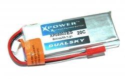 Akumulator Li-Po Dualsky 800mAh 20C 2S1P 7.4V