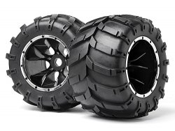 Mounted Wheels and Tyres 2 Pcs (Blackout MT)