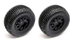 KOŁA KMC Hex Wheel and Tire, black SHORT COURSE
