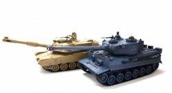 Zestaw wzajemnie walczących czołgów PK German Tiger i Abrams M1A2 1:28