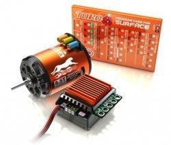 Zestaw SkyRc Cheetah - reg. obrotów 60A + silnik bezszczotkowy 3250KV 10.5T + karta prog.