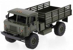 Ciężarówka wojskowa WPL B-24 1:16 4x4 2.4GHz RTR - Zielony