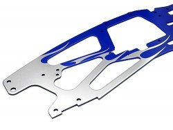 FLAMED TVP CUSTOM CHASSIS(SILVER/BLUE/2PCS)