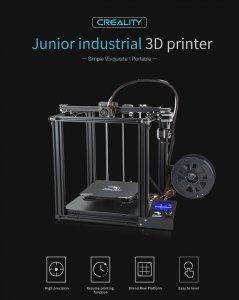 DRUKARKA 3D DIY Ender-5 CREALITY zestaw drukarki do samodzielnego złożenia / rozmiar wydruku 220*220*300mm