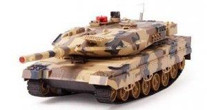 CZOŁG Leopard RTR 1:18 2.4GHz - Żółty BITWA na podczerwień
