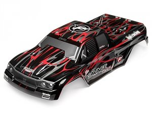 SAVAGE FLUX HP GT-2 PAINTED BODY (BLACK/GREY/RED)