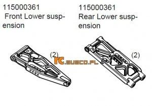Rear/front lower suspension Ansmann Terrier