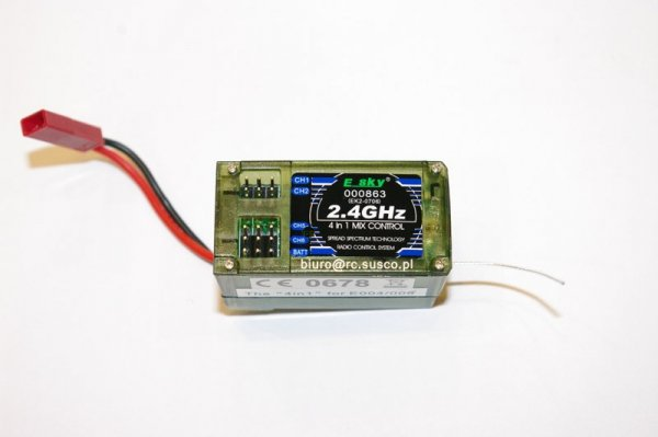 Esky 2.4ghz 4in1 Mix Gyro Controller Receiver 000863 Ek2-0706