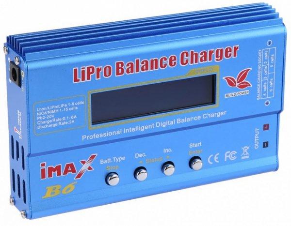 Ładowarka IMAX B6 6A + adaptery i sensor temp.
