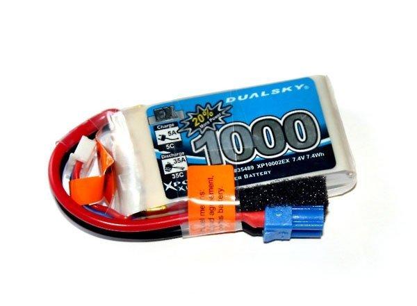 Akumulator Li-Po Dualsky 1000 mAh 35C/5C 7.4V