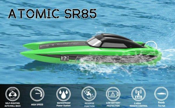Motorówka RC ATOMIC SR85 ARTR bezszczotkowa samoodwracająca się (85 cm długości)
