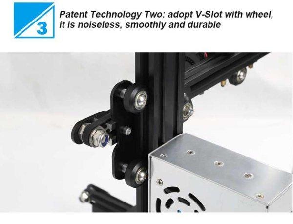 DRUKARKA 3D DIY Ender-3 CREALITY zestaw drukarki do samodzielnego złożenia / rozmiar wydruku 220*220*250mm