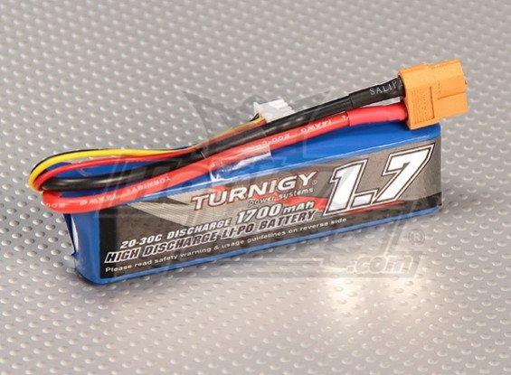 Akumulator Turnigy LiPo 1700mAh 7,4V 2S 20 - 30C