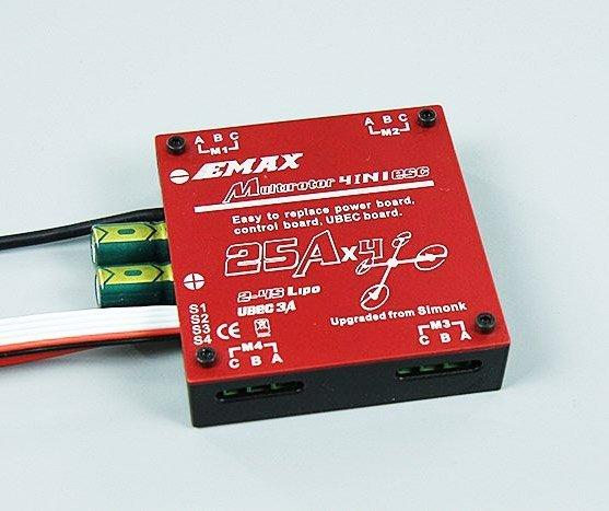 Regulator obrotów EMAX Multirotor 4 x 25A