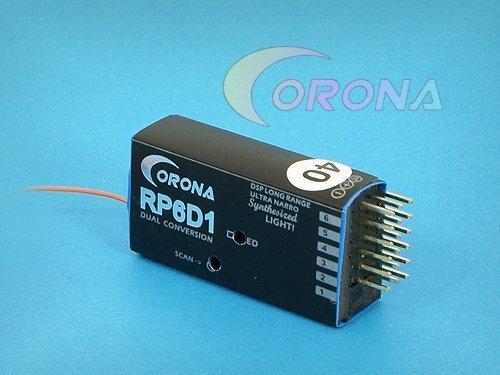 CORONA RP6D1 - odbiornik 6 kanałowy 40MHz z syntezą