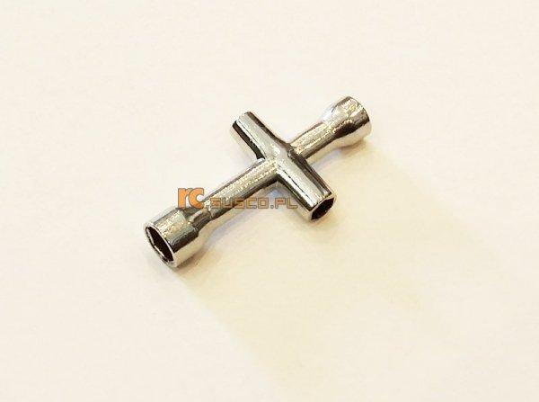 POCZWÓRNY KLUCZ NASADOWY KRZYŻOWY MAŁY 4/5/5,5/7mm (na śrubę M2, M2,5, M3, M4).