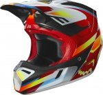 KASK OFF-ROAD FOX V-3 MOTIF RED/YELLOW