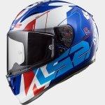 KASK LS2 FF323 ARROW R EVO TECHNO WHITE BLUE