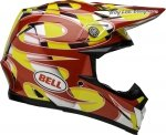 BELL KASK CROSS MOTO-9 MIPS MC REPLICA YELLOW/CHRO