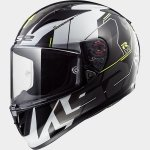 KASK LS2 FF323 ARROW R EVO TECHNO WHITE BLACK