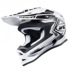 KENNY KASK OFF-ROAD PERFORMANCE BLACK-WHITE