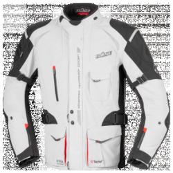 BUSE Kurtka motocyklowa  Grado jasno szara-czarna