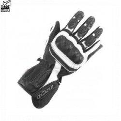 Rękawice motocyklowe damskie BUSE  czarno-białe