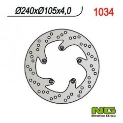 NG1034 TARCZA HAMULCOWA BENELLI 250/400 VELVET (240x105x4)