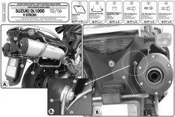 Givi PLX528 Mocowanie boczne V35 DL1000, KLV