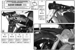 Givi PLX538 stelaż boczny v35 Suzuki GSR600 06-11