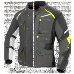 BUSE Kurtka motocyklowa czarno neonowa/popiel/neon