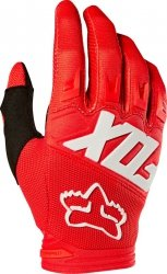 FOX RĘKAWICE OFF-ROAD JUNIOR DIRTPAW RACE RED